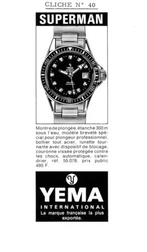 Publicité YEMA 197? | Encart Presse ; Superman 55.078