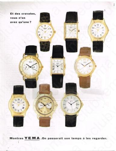 Publicité YEMA 1995 | On passerait son temps à les regarder 03