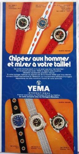 Publicité YEMA 1968 | Classiques d'aujourd'hui ; Chippées aux hommes