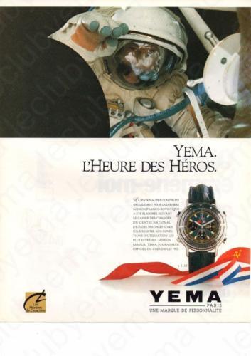 Publicité YEMA 198? | L'heure des Héros ; Spationaute III CNES