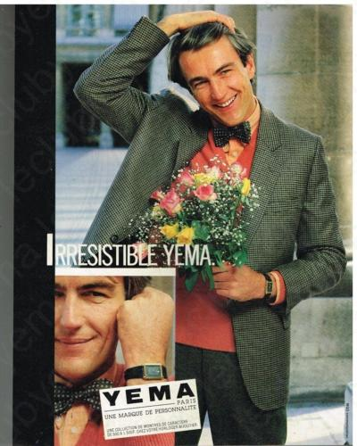 Publicité YEMA 197? | Irresistible YEMA ; YEMA me va ; Homme