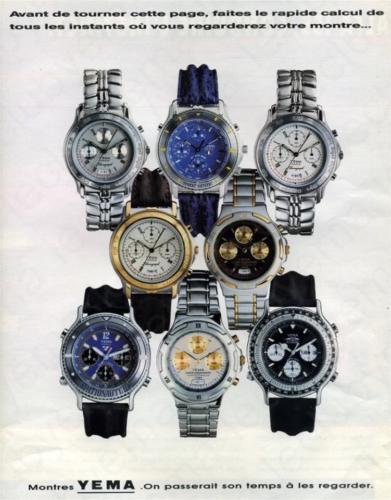 Publicité YEMA 1989 | On passerait son temps à les regarder ; Spationaute III ; Flygraf