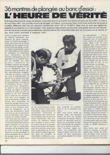 36 montres de plongée au banc d'essai - Océans N°35 - 1975 - p.40