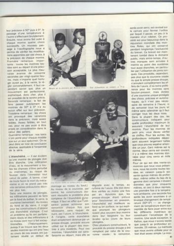 36 montres de plongée au banc d'essai - Océans N°35 - 1975 - p.41