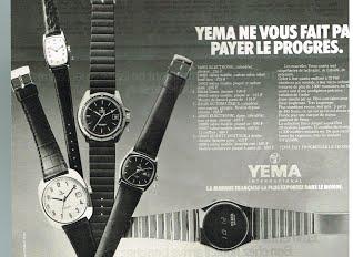 Publicité YEMA 1978 (?) | YEMA ne vous fait pas payer le progrès ; N&B