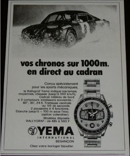Publicité YEMA 196? | Automobile ; Rallye Formica