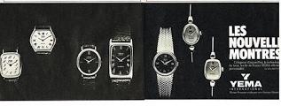 Publicité YEMA 1979 | Les Nouvelles montres