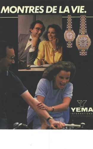 Publicité YEMA 1981 | Les montres de la vie