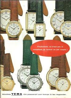 Publicité YEMA 1994 (?) | On passerait son temps à les regarder ; Collection ville