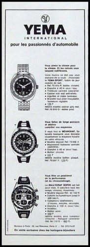 Publicité YEMA 1968 (?) | Passionnés automobiles ; Sport ; Meangraf ; Rallygraf Super