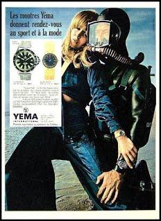Publicité Yema 1969 | Paris Match et ELLE ; RDV Sport et Mode ; Superman