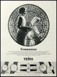 Publicité YEMA 1964 | Communions