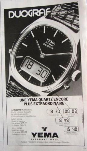 Publicité YEMA 1978   Duograf