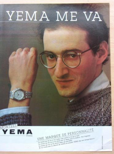 Publicité YEMA 1982   YEMA me va ; Citadine homme acier