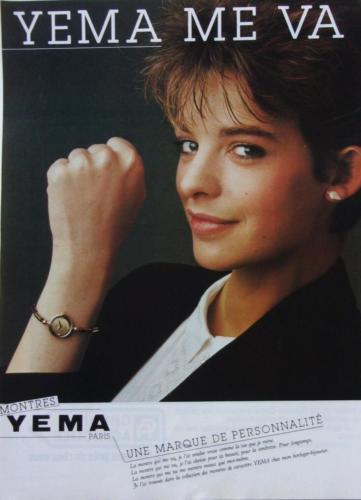 Publicité YEMA 1982   YEMA me va ; petite Citadine Femme