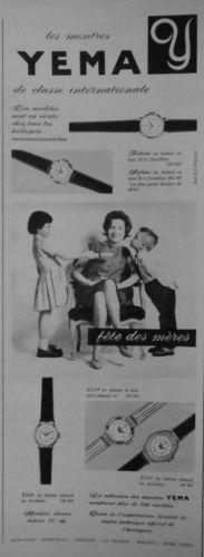 Publicité YEMA 196? | Classe internationale ; Fête des mères