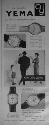 Publicité YEMA 196? | Classe internationale ; Fête des pères