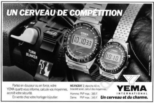 Publicité YEMA 198? | Un cerveau de compétition ; Agence Marcel Germont ;YEMA Meangraf 2