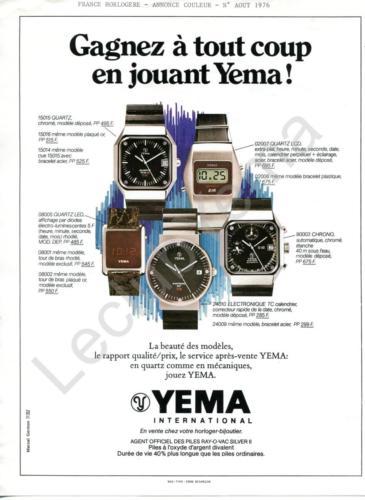 Publicité YEMA 1976| Août 76 ; Gagnez à tout coup ; Agence Marcel GERMON_Coul