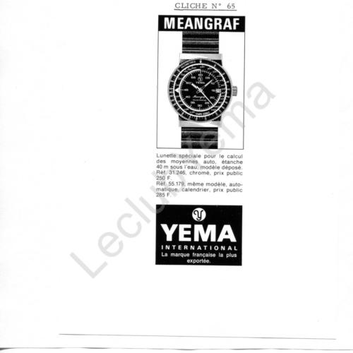 Publicité YEMA 197? | Encart Presse ; Meangraf Moto 55.179