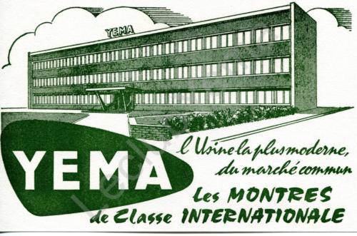 Publicité YEMA 1963 | Buvard YEMA_Usine rue des Cras à Besançon