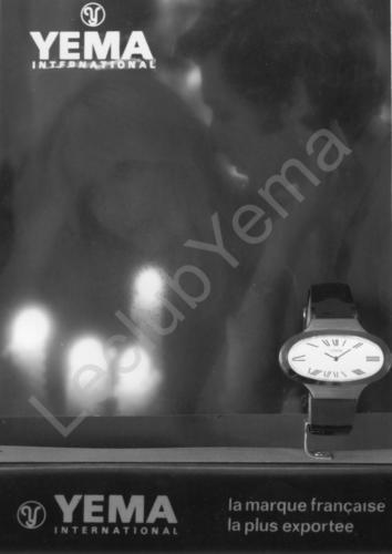 Publicité YEMA 197? | HBJO ; Présentoir de vitrine
