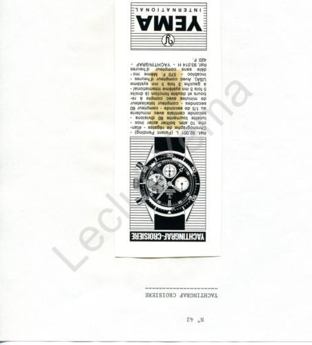 Publicité YEMA 196? | Encart Presse ; Yachtingraf Croisière 92.001 L
