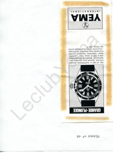 Publicité YEMA 196? | Encart Presse ; Yema Superman 87.062 K