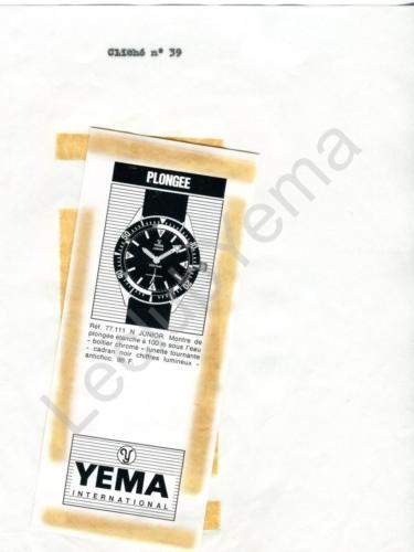 Publicité YEMA 196? | Encart Presse ; Plongée Junior 77.111 N
