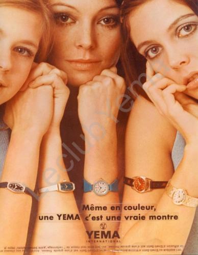 Publicité YEMA 1968 | Août 68 ; Même en couleur une YEMA c'est une vraie montre