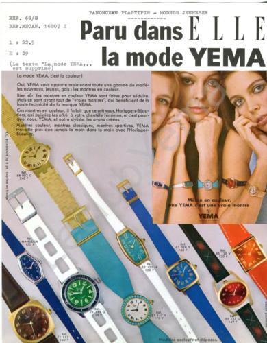 Publicité YEMA 1968 | Août 68 ; HBJO ; Campage Couleurs modèles féminins_Support d'insertion de campagne publicitaire réseau H.B.J.O. - Aimablement confié par YEMA