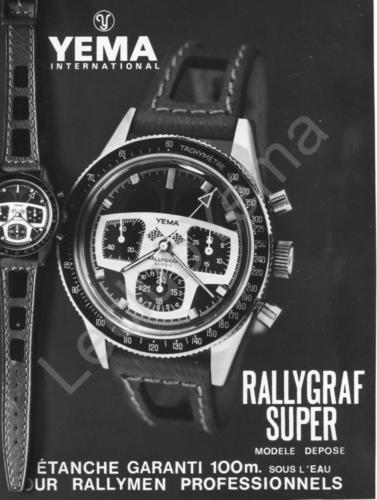 Publicité YEMA 1969 (?) | Rallygraf Super