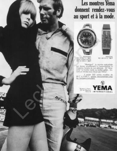 Publicité Yema 1969 | Paris Match et ELLE ; RDV Sport et Mode ; Meangraf 61.007 S N&B