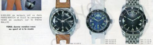 Collection YEMA 1969 | Campagne Paris Match Sport et Mode ; Visuel Meangraf ; Sous marine 330feet 77.111 ; p.3/5