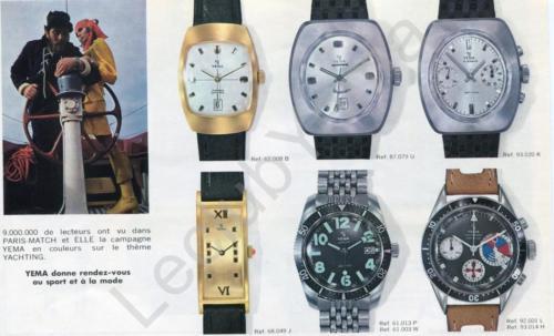 Collection YEMA 1969 | Campagne Paris Match Sport et Mode ; Yachtingraf Croisière 92.001 L et 93.014 H p.4/5