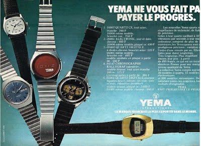 Publicité YEMA 1978 (?) | YEMA ne vous fait pas payer le progrès ; Couleur ; Rallygra Brown Sugar