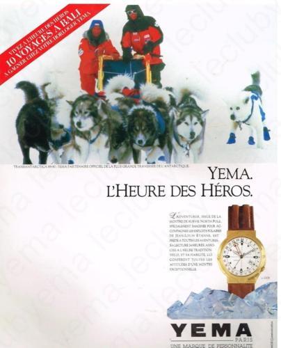 Publicité YEMA 198? | L'heure des Héros ; YEMA JL Etienne