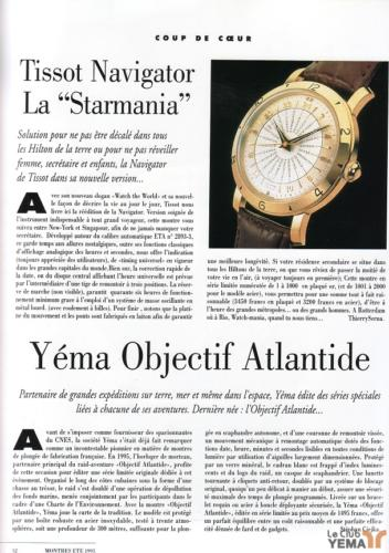 1995 Revue Montres | Yema Objectif Atlantide_02