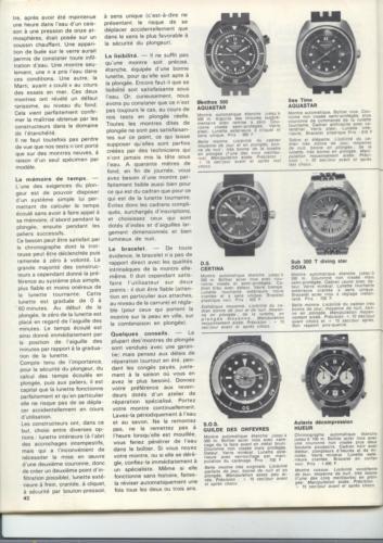 36 montres de plongée au banc d'essai - Océans N°35 - 1975 - p.42