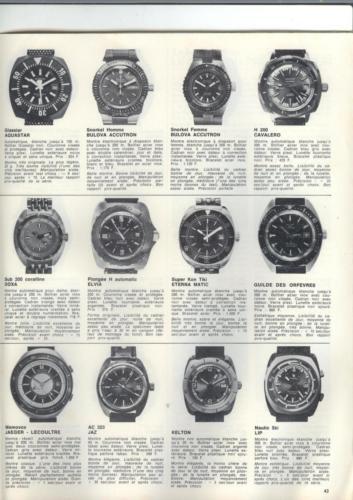 36 montres de plongée au banc d'essai - Océans N°35 - 1975 - p.43