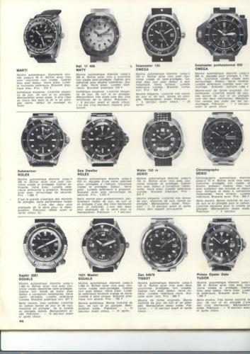 36 montres de plongée au banc d'essai - Océans N°35 - 1975 - p.44