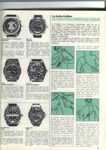 36 montres de plongée au banc d'essai - Océans N°35 - 1975 - p.45