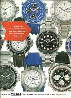Publicité YEMA 1994 | On passerait son temps à les regarder ; Navygraf III ; Altaïr ; Flygraf