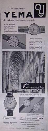 Publicité YEMA 196? | Classe internationale ; Première Communion