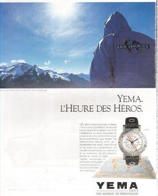 Publicité YEMA 1990 | L'Heure des Héros ; Raid Gauloise ; Bi-pôle