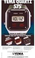 Publicité YEMA 1970 (?) | Campagne XXXF ; Modèles Quartz