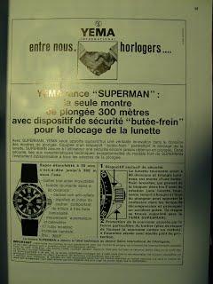Publicité YEMA 1968 | HBJO Superman
