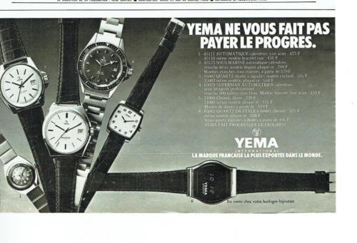 Publicité YEMA 1978 (?) | YEMA ne vous fait pas payer le progrès; Superman 83.078 ; N&B