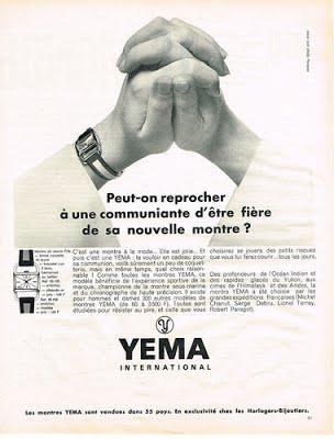 Publicité YEMA 1967 (?) | Communion fille