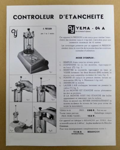 YEMA Controleur 04A - Notice d'utilisation page 1 - Crédit : Jerry